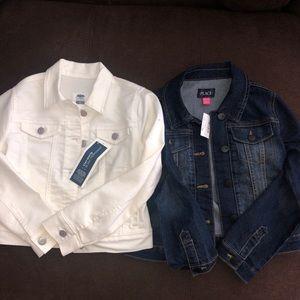 Two never worn denim jackets! Size Girls 8